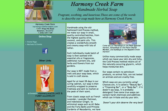 Harmony Creek Farm site layout